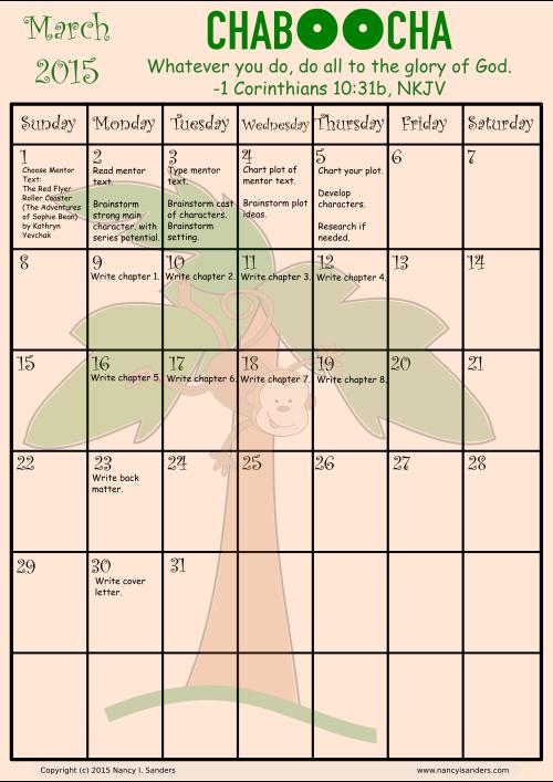 CHABOOCHA calendar 2015